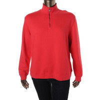Mod-O-Doc Womens Cotton 1/2 Zip Pullover Top