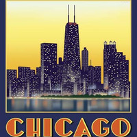 Chicago, IL by Steve Forney Fine Art Print