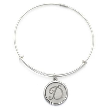Alex and Ani Precious Initial D Charm Bangle - Argentium Silver
