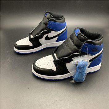 Air Jordan 1 women blue 716371-040 sports shoes
