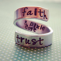 Faith trust & pixie dust spiral ring