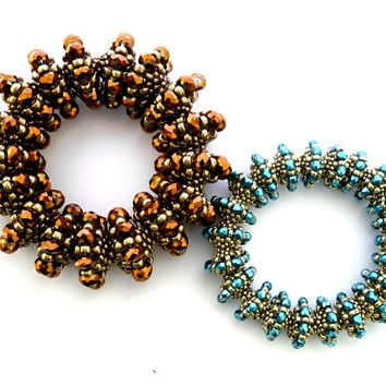 Beading pattern/ beading tutorial for seed beadweaving crystal beaded bracelet and beaded necklace jewellery set- Affinity Jewellery