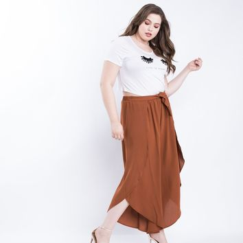 Plus Size Split Apart Pants