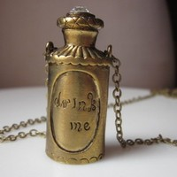 Drink Me. An Alice in Wonderland Inspired Necklace. | LoveSpell - Jewelry on ArtFire