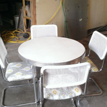 Retro Vintage Durham Line Card Table with Moder...