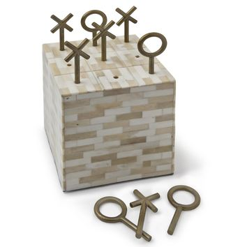 Regina Andrew Tic Tac Toe-Multi-Tone Bone Block | New Decor | What's New! | Candelabra, Inc.