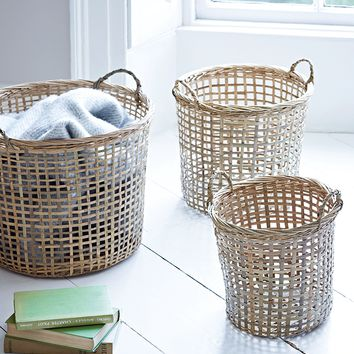 NEW Three Bamboo Baskets