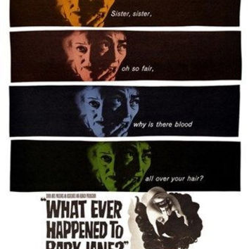WHAT EVER HAPPENED TO BABY JANE movie poster 1962 BETTE DAVIS 24X36 thriller