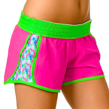 """Butter Me Up"" Lobster Shorts (Pink)"