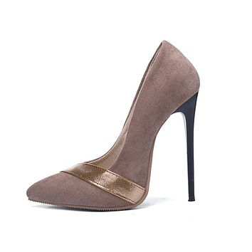 Pointed Toe Slip-on Sexy Thin High Heels Pumps