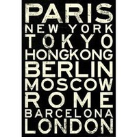 (13x19) Cities of the World RetroMetro Travel Poster