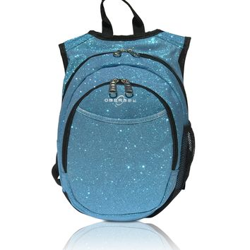 Obersee Pre-School Sparkle Backpack with Integrated Snack Cooler - Turquoise
