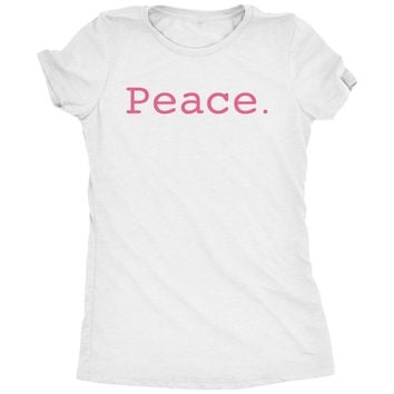 Peace Typewriter Text Womens Tri-Blend T-Shirt
