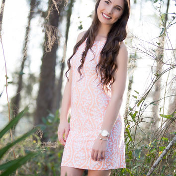 Springing Into Spring Shift Dress - Coral