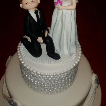 Mr and Mrs Cake Topper, Wedding Cake Topper, Funny Wedding, Wedding Topper, Funny Bride Groom Topper, Wedding Cake, Cake Toppers, Weddings