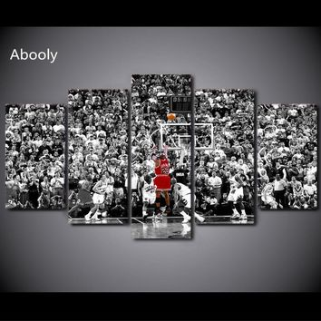 5Piece Canvas Basketball Chicago Bulls Painting Modern Decoration  For Living Room  Print Poster Pictures  Wall Art Pictures