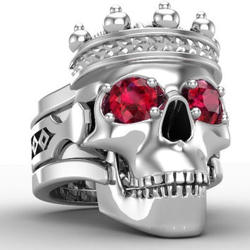The Skull King Ring by Temples of the Ancient Dragon 18 k