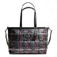 New With Tags COACH SIGNATURE TARTAN DIAPER / MULTIFUNCTION BAG F17708