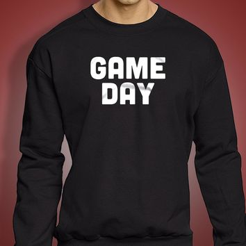 Game Day New England Patriots Playoffs Atlanta The Gameday Chic Falcons Gameday Football Men'S Sweatshirt