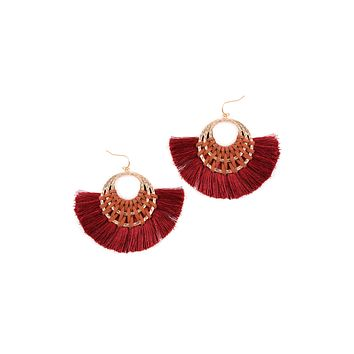 Classic Fan Tassel Earrings