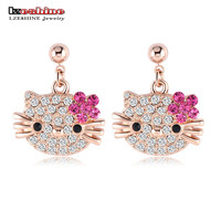 Hello Kitty Austrian Crystal Stud Earrings