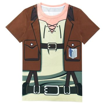 Cool Attack on Titan  Men Scout Regiment 3D T-Shirts AT_90_11
