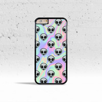 Tie Dye Alien Emoji Case Cover for Apple iPhone 4 4s 5 5s 5c 6 6 Plus & iPod Touch