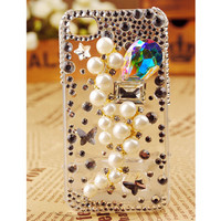 Pearl Grapes Crystal Diamond iPhone 4 3GS Cover - gulleitrustmart.com