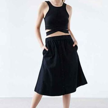 Cheap Monday Scaler Button-Front Skirt