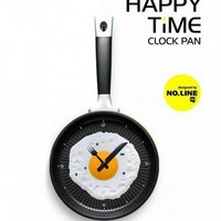 Happy Time Pan Fried Egg Novelty Wall Clock