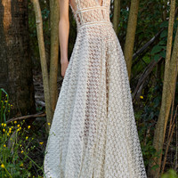 Flower Lace A-line Dress | Moda Operandi
