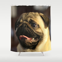 Noodle Shower Curtain by Veronica Ventress