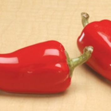 Chili Pepper Ceramic Salt & Pepper Shaker - 8628