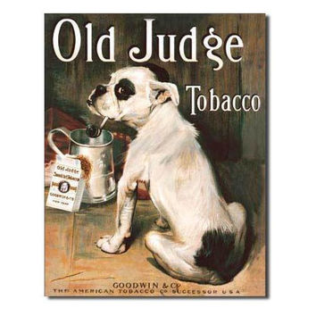 Tin Sign : Old Judge Tobacco