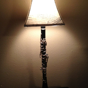 Beautiful Clarinet Lamp with Chic French Inspired Shade