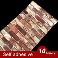 10M Vinyl Self adhesive wallpaper PVC waterproof stone wallpapers Brick wall paper decorative wall stickers bedroom home decor