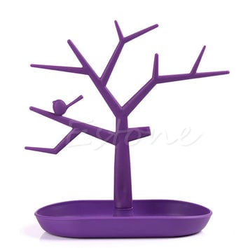 New Display Organizer Holder Show Rack Jewelry Necklace Ring Earring Tree Stand