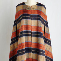 Boho Long Darling Detective Work Cape in Paprika