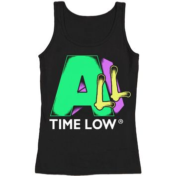 All Time Low Women's  All TV Womens Tank Black