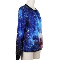 LoveLiness Fashion Sweatshirts Women's Neon Galaxy Cosmic Print Sweatshirt