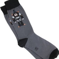 Sock It To Me Men's Crew Socks,Grey,One Size