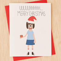 Turtles Soup Uhh Merry Christmas Card - Urban Outfitters
