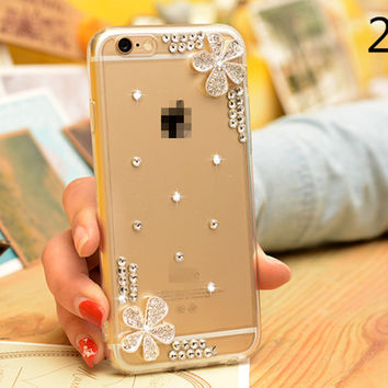 Free Shipping 4 styles DIY Clear Cell Phone Case for iPhone 6/6S for iphone 6 6s plus thin Soft QUALITY with Dust Plug Itself
