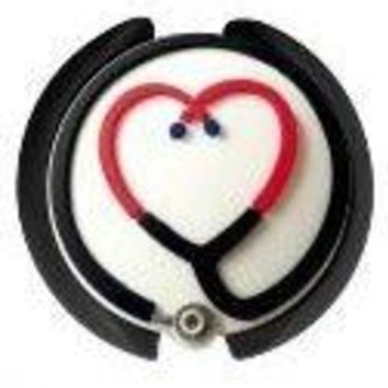 Stethoscope ID Tag 3D Soft Rubber Stethoscope Heart Design SmartCharms