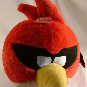 "Angry Bird Space Plush Super Red 8"" Sounds Rovio Entertainment Doll Toy Licensed"