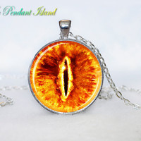 SAURON EYE pendant Sauron eye  Necklace  eye Gifts for Him for men  for Her (V1H2)