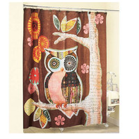 "60"" x 72"" Owl Friend Shower Curtain"