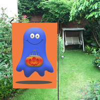 Halloween Boo Man Ghost Garden Flag 12''x18''(Without Flagpole) | ID: D1952705