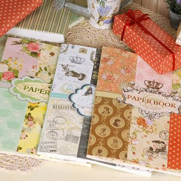 Retro European Decorative Background Papers Vintage Gift Wrapping Paper Book