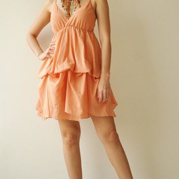Jazzy Orange  Cotton Dress by aftershowershop on Etsy